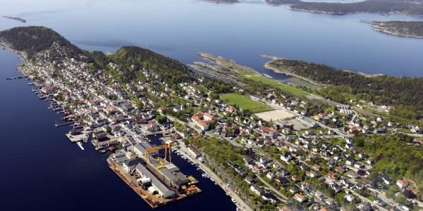 Langesund flyfoto